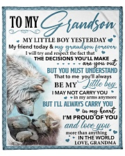 """My Little GS Yesterday Friend Today To Grandson Fleece Blanket - 50"""" x 60"""" front"""