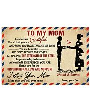 Son To Mom I Am Forever Grateful For All Custom 17x11 Poster front