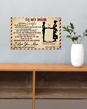 Son To Mom I Am Forever Grateful For All Custom 17x11 Poster poster-landscape-17x11-lifestyle-24