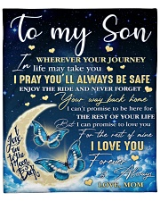 """Wherever Your Journey In Life Mom To Son Fleece Blanket - 50"""" x 60"""" front"""