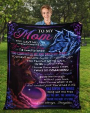 """You Gave Me Love Mother's Day Daughter to Mom Fleece Blanket - 50"""" x 60"""" aos-coral-fleece-blanket-50x60-lifestyle-front-01a"""