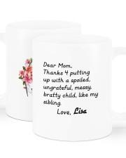 Dear Mom Thanks 4  Putting Up Daughter To Mom Mug ceramic-mug-lifestyle-01
