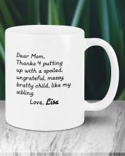 Dear Mom Thanks 4  Putting Up Daughter To Mom Mug ceramic-mug-lifestyle-05