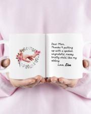 Dear Mom Thanks 4  Putting Up Daughter To Mom Mug ceramic-mug-lifestyle-30