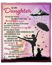 """For All The Things My Hands Have Held To Daughter Fleece Blanket - 50"""" x 60"""" front"""