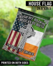 """Irish By Blood American By Birth Patriot By Choice 29.5""""x39.5"""" House Flag aos-house-flag-29-5-x-39-5-ghosted-lifestyle-13"""
