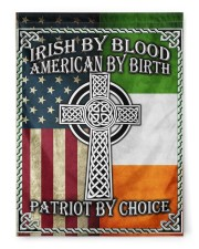 """Irish By Blood American By Birth Patriot By Choice 29.5""""x39.5"""" House Flag front"""