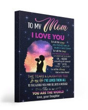 I Love You For The All Times U Picked Me Up To Mom 16x20 Gallery Wrapped Canvas Prints front