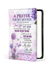 A Prayer For My Mother Dad To Daughter Medium - Leather Notebook front