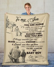 """Never Feel That You Are Alone Dad To Son  Fleece Blanket - 50"""" x 60"""" aos-coral-fleece-blanket-50x60-lifestyle-front-01"""