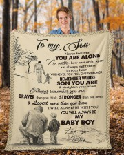 """Never Feel That You Are Alone Dad To Son  Fleece Blanket - 50"""" x 60"""" aos-coral-fleece-blanket-50x60-lifestyle-front-01b"""