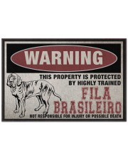 """Fila this property is protected Doormat 22.5"""" x 15""""  front"""