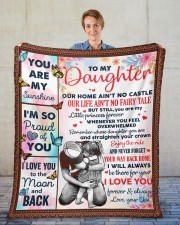 """Our Home Ain't No Castle Dad To Daughter Fleece Blanket - 50"""" x 60"""" aos-coral-fleece-blanket-50x60-lifestyle-front-01"""