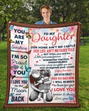 """Our Home Ain't No Castle Dad To Daughter Fleece Blanket - 50"""" x 60"""" aos-coral-fleece-blanket-50x60-lifestyle-front-01a"""