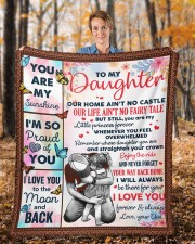 """Our Home Ain't No Castle Dad To Daughter Fleece Blanket - 50"""" x 60"""" aos-coral-fleece-blanket-50x60-lifestyle-front-01b"""