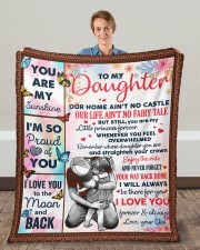 """Our Home Ain't No Castle Dad To Daughter Fleece Blanket - 50"""" x 60"""" aos-coral-fleece-blanket-50x60-lifestyle-front-01c"""