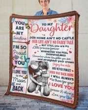 """Our Home Ain't No Castle Dad To Daughter Fleece Blanket - 50"""" x 60"""" aos-coral-fleece-blanket-50x60-lifestyle-front-02"""