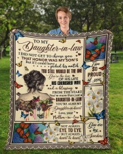 """I Did Not Get To Choose You To Daughter-In-Law Fleece Blanket - 50"""" x 60"""" aos-coral-fleece-blanket-50x60-lifestyle-front-01a"""