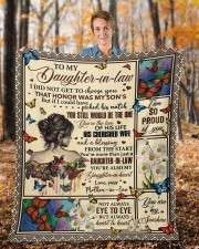 """I Did Not Get To Choose You To Daughter-In-Law Fleece Blanket - 50"""" x 60"""" aos-coral-fleece-blanket-50x60-lifestyle-front-01b"""