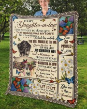 """I Did Not Get To Choose You To Daughter-In-Law Fleece Blanket - 50"""" x 60"""" aos-coral-fleece-blanket-50x60-lifestyle-front-02b"""