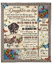 """I Did Not Get To Choose You To Daughter-In-Law Fleece Blanket - 50"""" x 60"""" front"""