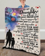 """Never Forget That The Important Thing To Daughter Fleece Blanket - 50"""" x 60"""" aos-coral-fleece-blanket-50x60-lifestyle-front-02a"""