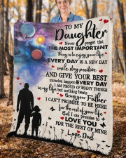 """Never Forget That The Important Thing To Daughter Fleece Blanket - 50"""" x 60"""" aos-coral-fleece-blanket-50x60-lifestyle-front-02c"""