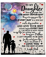 """Never Forget That The Important Thing To Daughter Fleece Blanket - 50"""" x 60"""" front"""