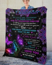 """My Little Girl Yesterday Friend Today To Daughter Fleece Blanket - 50"""" x 60"""" aos-coral-fleece-blanket-50x60-lifestyle-front-02"""