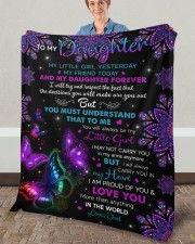 """My Little Girl Yesterday Friend Today To Daughter Fleece Blanket - 50"""" x 60"""" aos-coral-fleece-blanket-50x60-lifestyle-front-02a"""