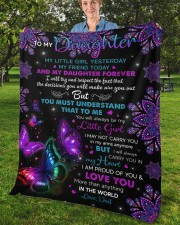 """My Little Girl Yesterday Friend Today To Daughter Fleece Blanket - 50"""" x 60"""" aos-coral-fleece-blanket-50x60-lifestyle-front-02b"""