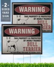 Bull dog this property is protected 24x18 Yard Sign aos-yard-sign-24x18-lifestyle-front-32