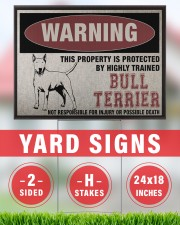 Bull dog this property is protected 24x18 Yard Sign aos-yard-sign-24x18-lifestyle-front-33