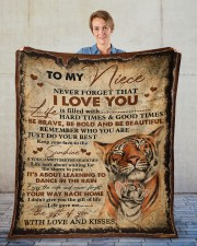 """Never Forget That I Love You Aunt To Niece Fleece Blanket - 50"""" x 60"""" aos-coral-fleece-blanket-50x60-lifestyle-front-01"""