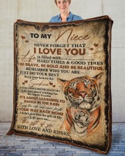 """Never Forget That I Love You Aunt To Niece Fleece Blanket - 50"""" x 60"""" aos-coral-fleece-blanket-50x60-lifestyle-front-02"""