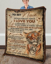 """Never Forget That I Love You Aunt To Niece Fleece Blanket - 50"""" x 60"""" aos-coral-fleece-blanket-50x60-lifestyle-front-02a"""