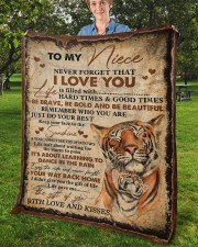 """Never Forget That I Love You Aunt To Niece Fleece Blanket - 50"""" x 60"""" aos-coral-fleece-blanket-50x60-lifestyle-front-02b"""