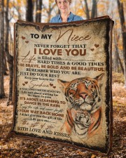 """Never Forget That I Love You Aunt To Niece Fleece Blanket - 50"""" x 60"""" aos-coral-fleece-blanket-50x60-lifestyle-front-02c"""