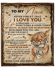 """Never Forget That I Love You Aunt To Niece Fleece Blanket - 50"""" x 60"""" front"""
