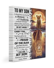 I Closed My Eyes For But A Moment Mom To Son 11x14 Gallery Wrapped Canvas Prints front