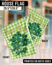 """Shamrock Bouquet 29.5""""x39.5"""" House Flag aos-house-flag-29-5-x-39-5-ghosted-lifestyle-07"""