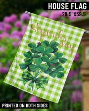 """Shamrock Bouquet 29.5""""x39.5"""" House Flag aos-house-flag-29-5-x-39-5-ghosted-lifestyle-14"""