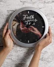 Faith Over Fear God Wall Clock aos-wall-clock-lifestyle-front-02