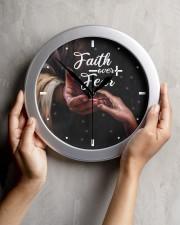 Faith Over Fear God Wall Clock aos-wall-clock-lifestyle-front-04