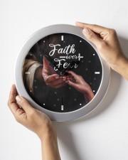 Faith Over Fear God Wall Clock aos-wall-clock-lifestyle-front-05