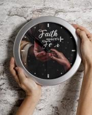 Faith Over Fear God Wall Clock aos-wall-clock-lifestyle-front-07