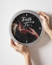 Faith Over Fear God Wall Clock aos-wall-clock-lifestyle-front-09