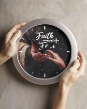 Faith Over Fear God Wall Clock aos-wall-clock-lifestyle-front-11