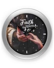 Faith Over Fear God Wall Clock front