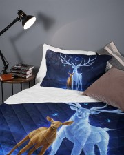 Deer and baby Queen Quilt Bed Set aos-queen-quilt-bed-set-lifestyle-front-09